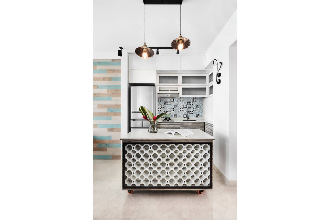 Peranakan industrial kitchen by AMP Design Co