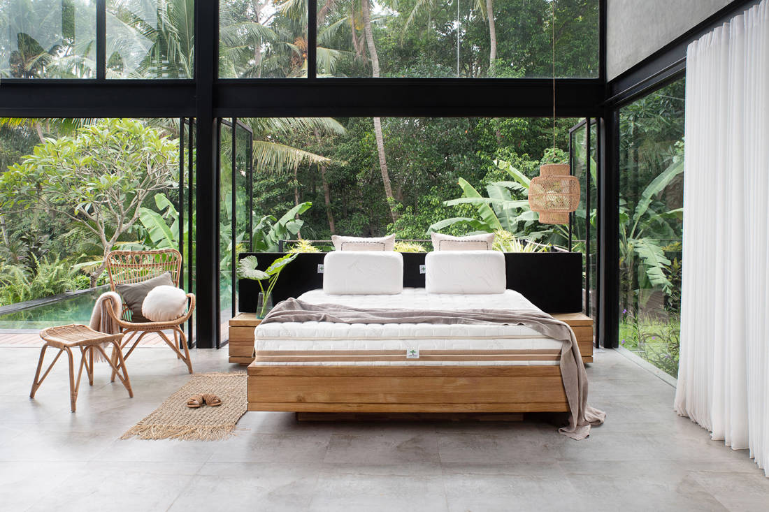 create an eco-friendly bedroom with Heveya mattress by European Bedding