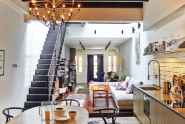Shophouse with beautiful and light-filled spaces