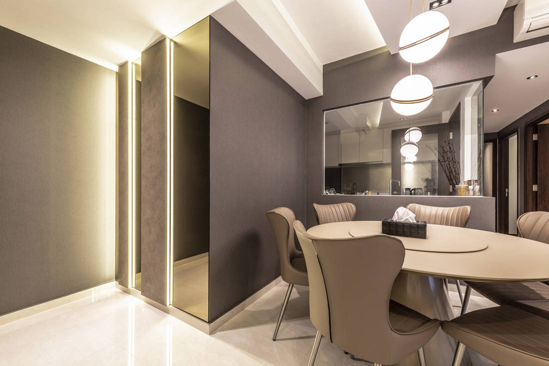 timeless Yishun apartment dining and foyer by Metier Planner