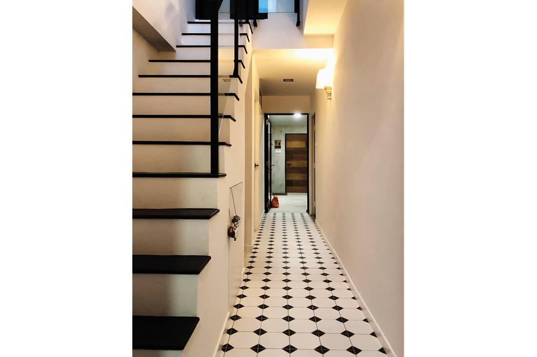 British colonial design hallway by Nest Spatial Design