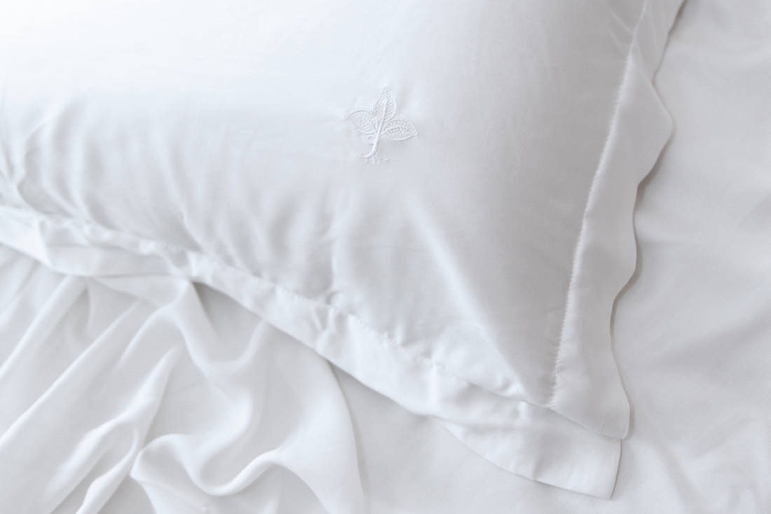 Heveya bamboo sheets by European Bedding - color white