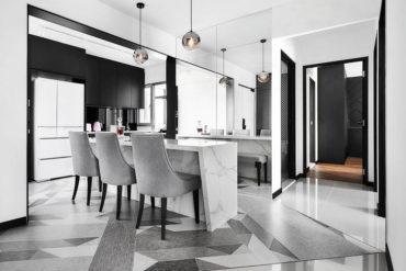 Monochromatic luxury in a four-room flat
