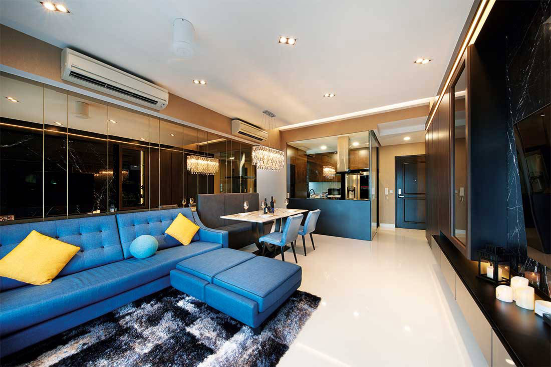 glamorous penthouse The Interior Place