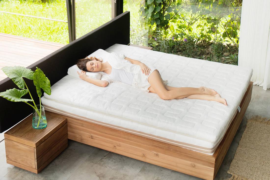 sleep well with Heveya III matress by European Bedding - above