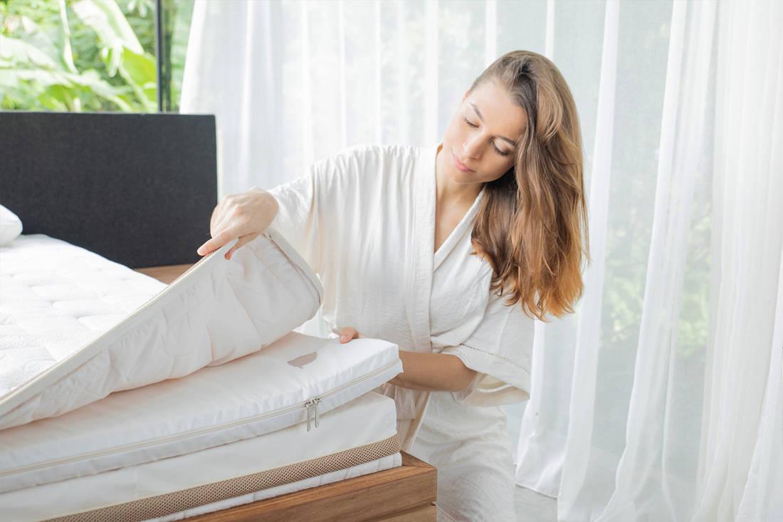 sleep well with Heveya III matress by European Bedding - removable cover