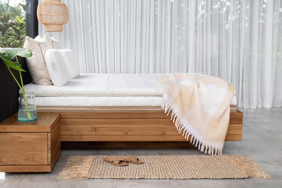 sleep well with Heveya III matress by European Bedding - side