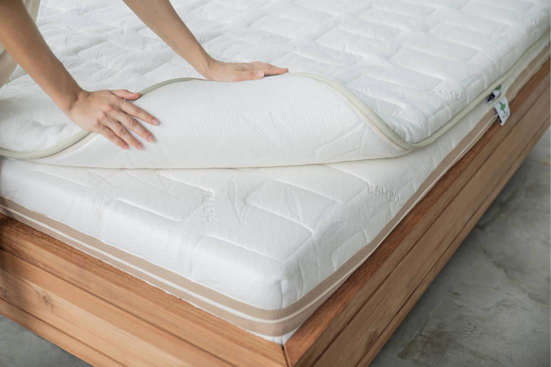 sleep well with Heveya III matress by European Bedding - topper