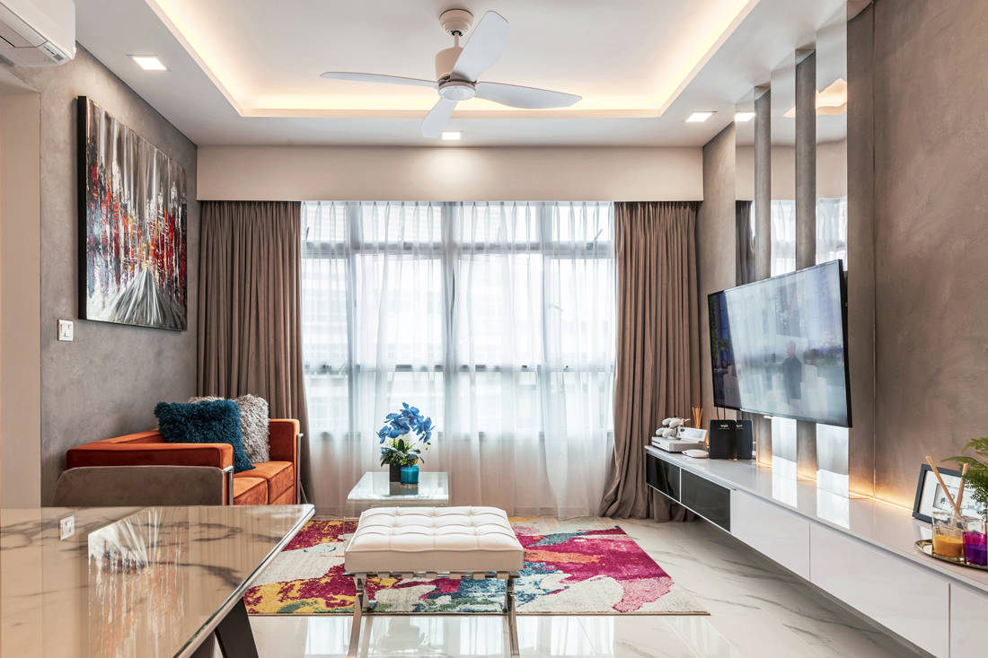 Bukit Batok West Ave 6 bespoke living space by Lux Design