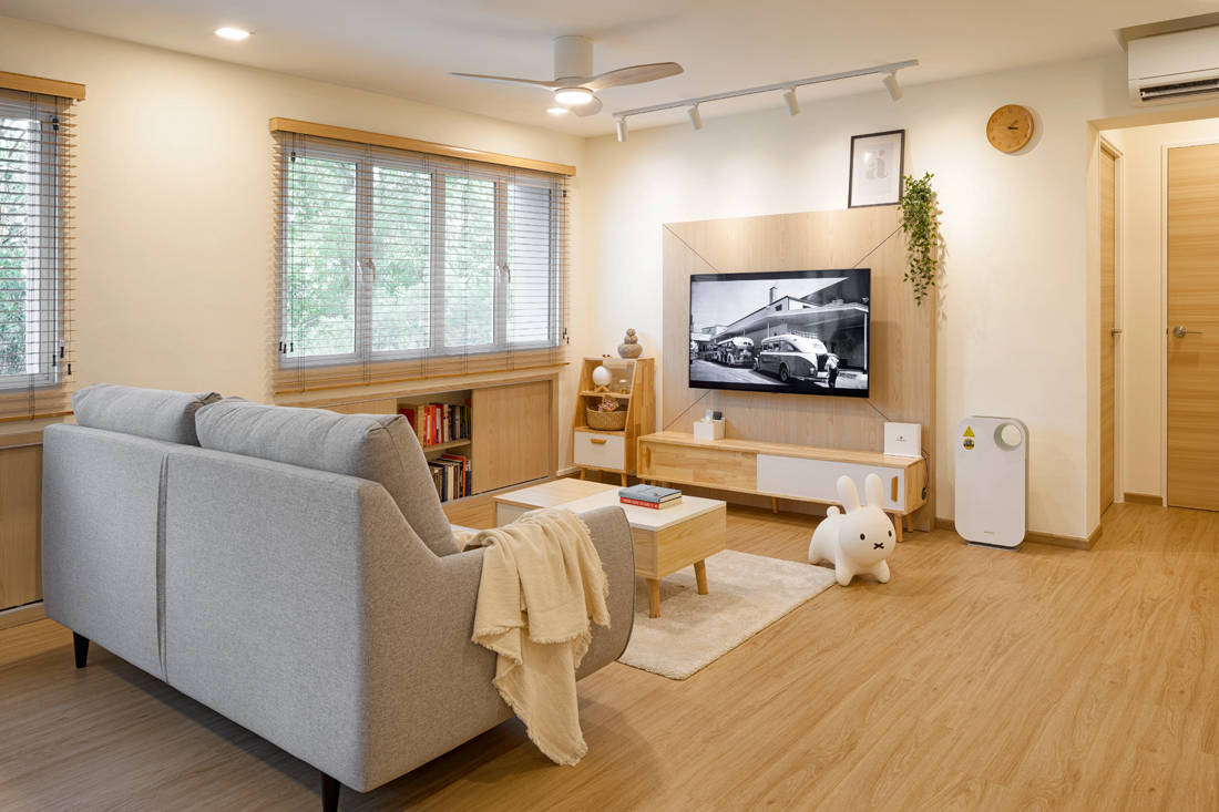 Scandi style resale HDB flat living room by AP Concept