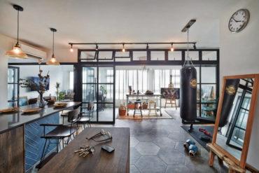 An artist turns her living room into an art studio