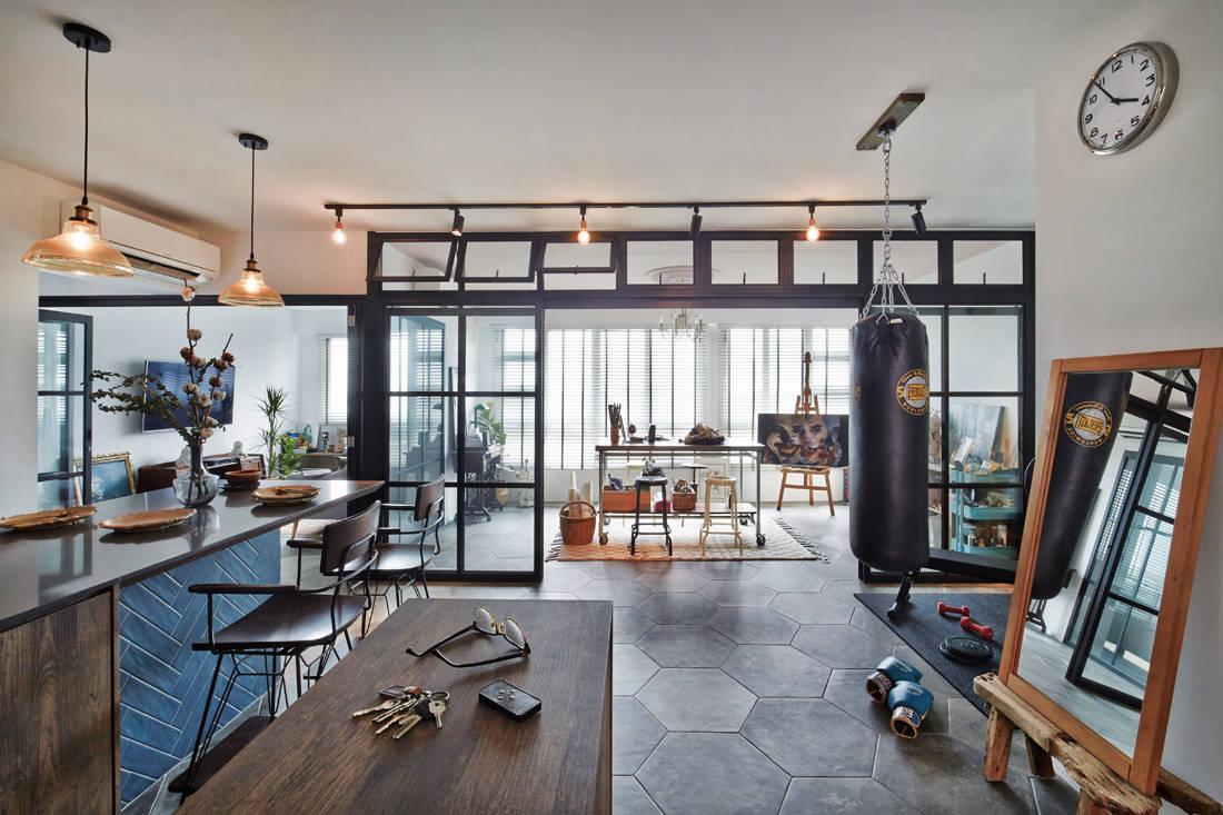 artist turns living room into an art studio - three-d conceptwerke