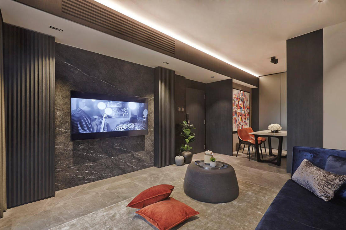 family-friendly home by Minimology - TV area