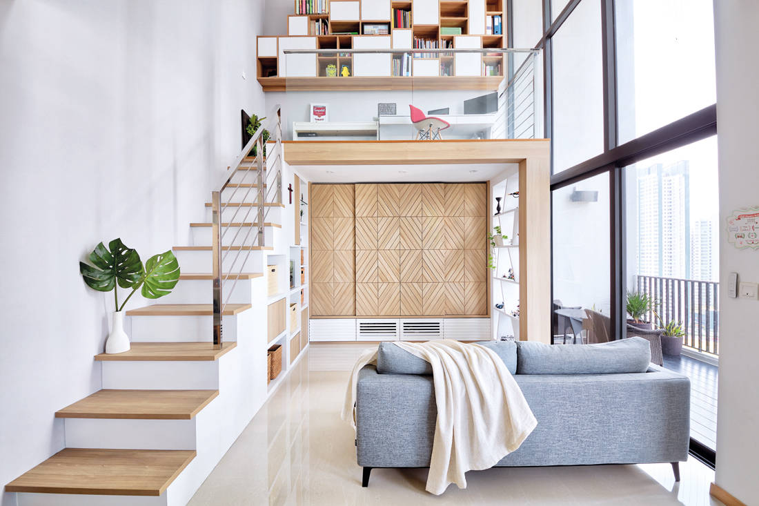 loft apartment living space by Free Space Intent