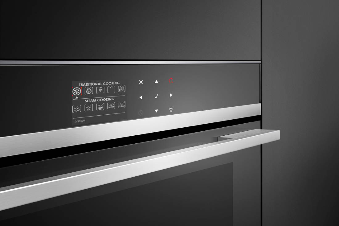 Fisher & Paykel 60cm Built-in Steam Oven control panel