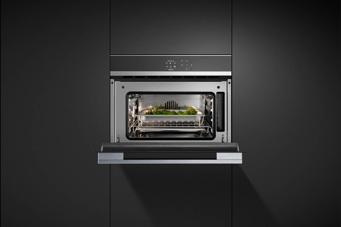 Fisher & Paykel 60cm Built-in Steam Oven door open