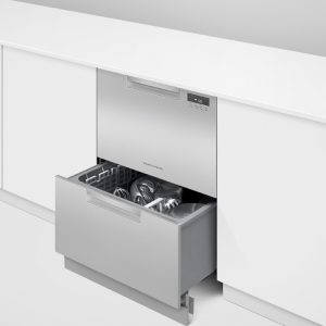 Fisher & Paykel Double DishDrawer™ Dishwasher in-situ open bottom drawer