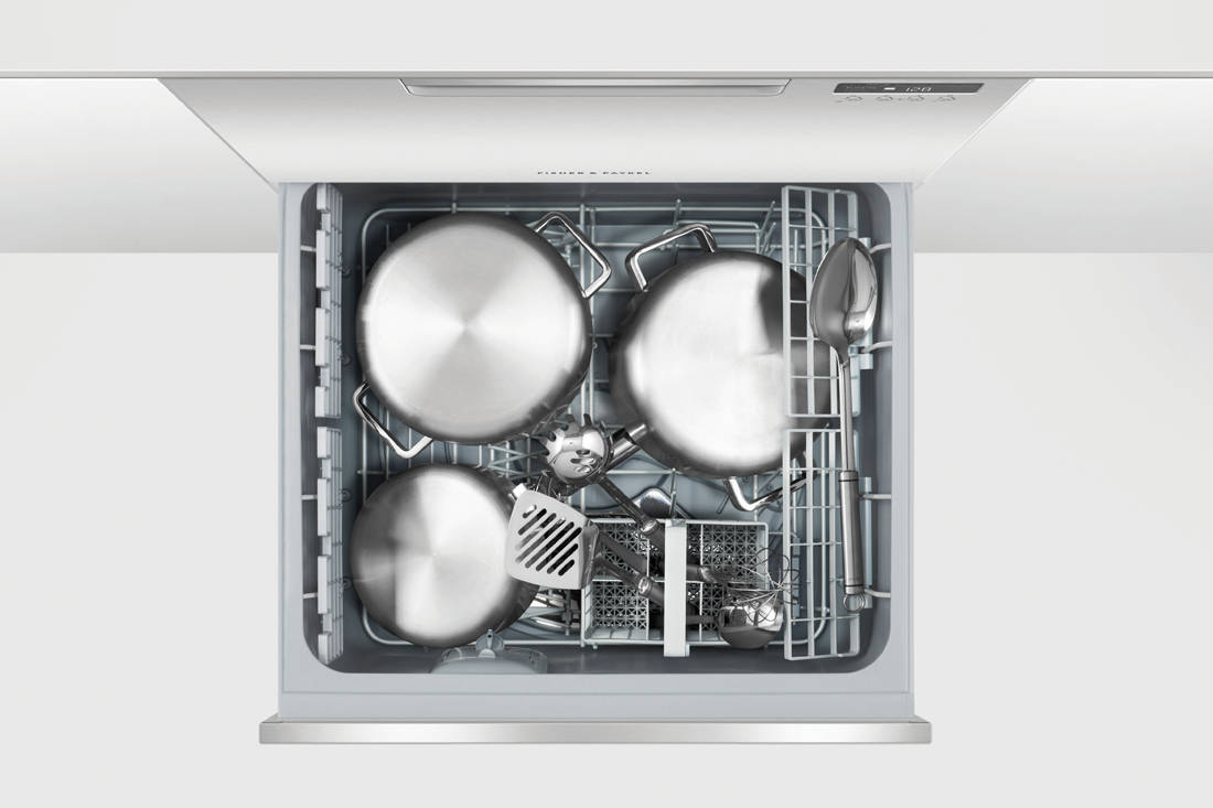 Fisher & Paykel Double DishDrawer™ Dishwasher open (2)
