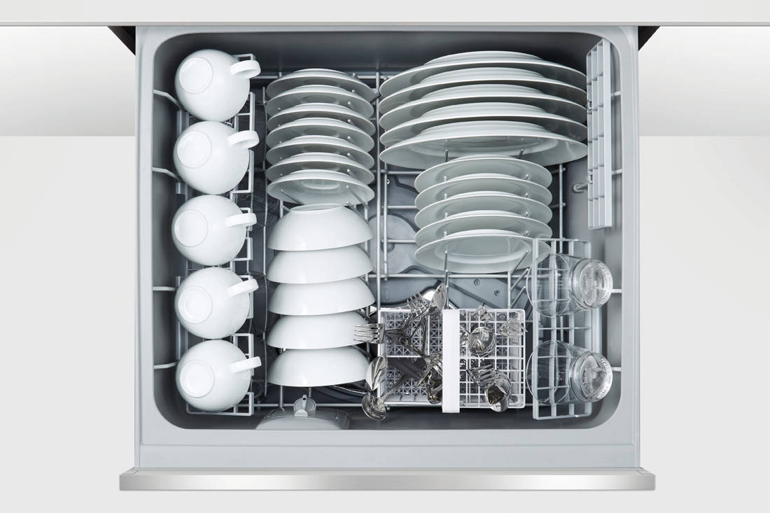 Fisher & Paykel Double DishDrawer™ Dishwasher open