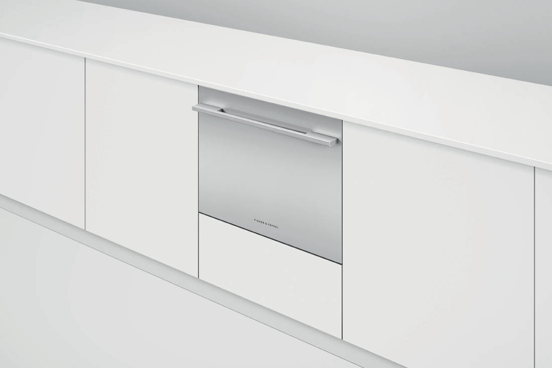 Fisher & Paykel Single DishDrawer™ Dishwasher in-situ closed drawer white
