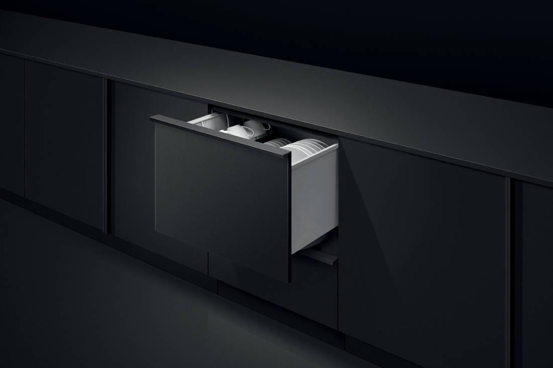Fisher & Paykel Single DishDrawer™ Dishwasher in-situ open drawer