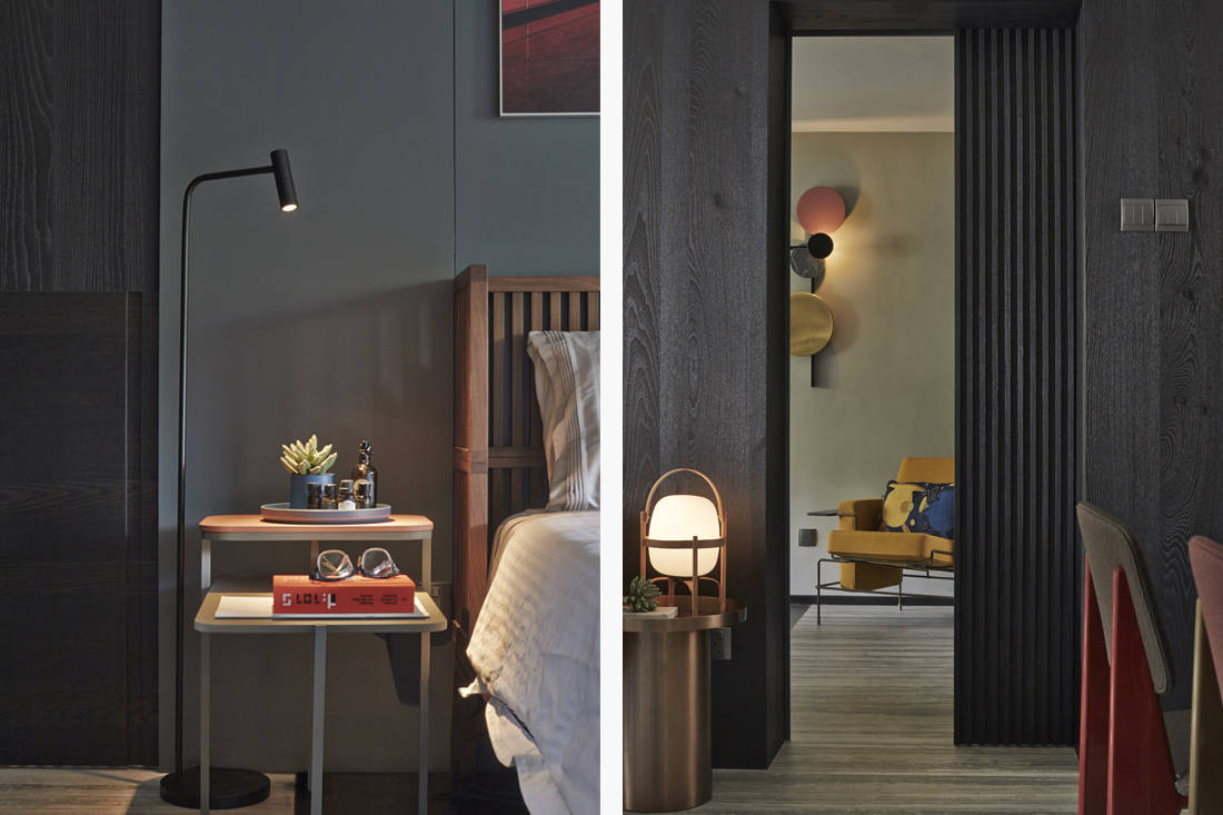 Interior designer Joey Khu's bedroom entrance