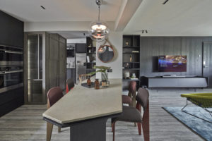 Interior designer Joey Khu's dining area