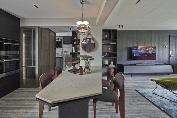 Interior designer Joey Khu's dining area