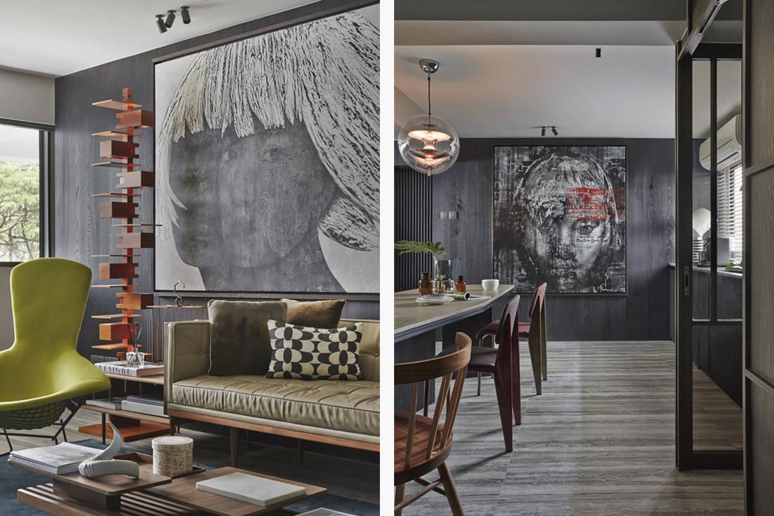 Interior designer Joey Khu's living and dining