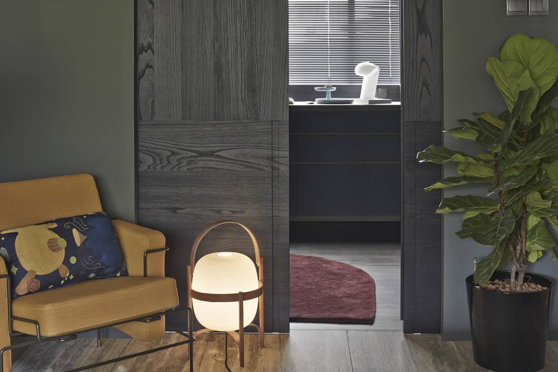 Interior designer Joey Khu's walk-in wardrobe entrance