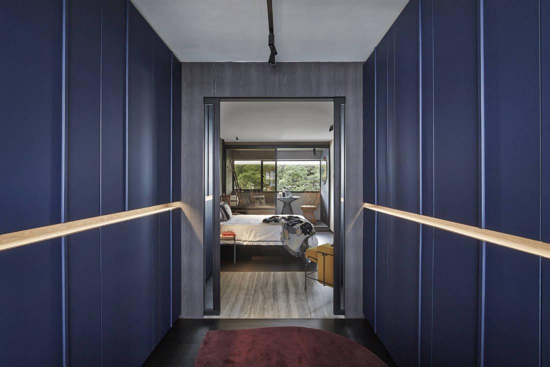 Interior designer Joey Khu's walk-in wardrobe