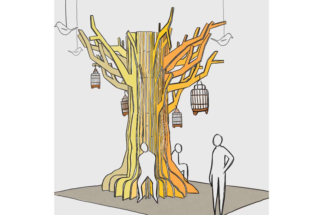 Saturday Indesign collaborative installations - Greenlam x Index Design