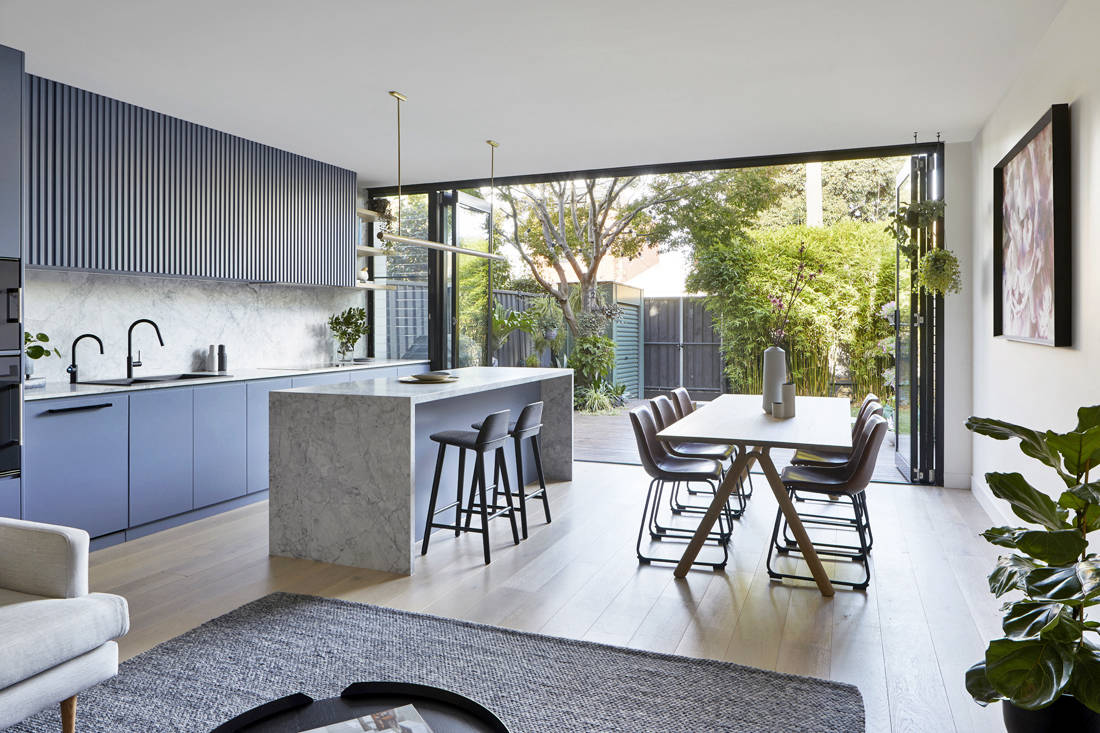 Victorian suburban home kitchen and dining by Blank Canvas Architects (2)