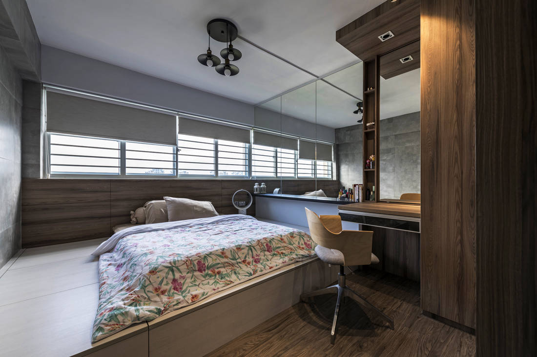 resale flat bedroom gets facelifted by Vivre Creative Design
