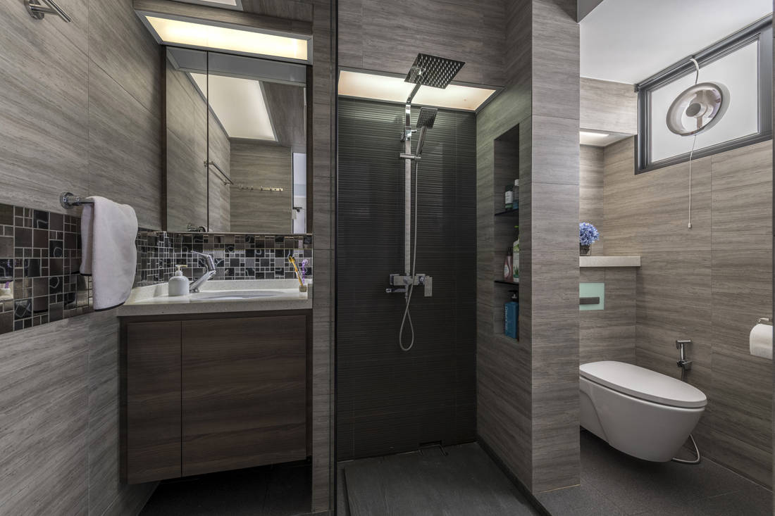 resale flat common bathroom gets facelifted by Vivre Creative Design