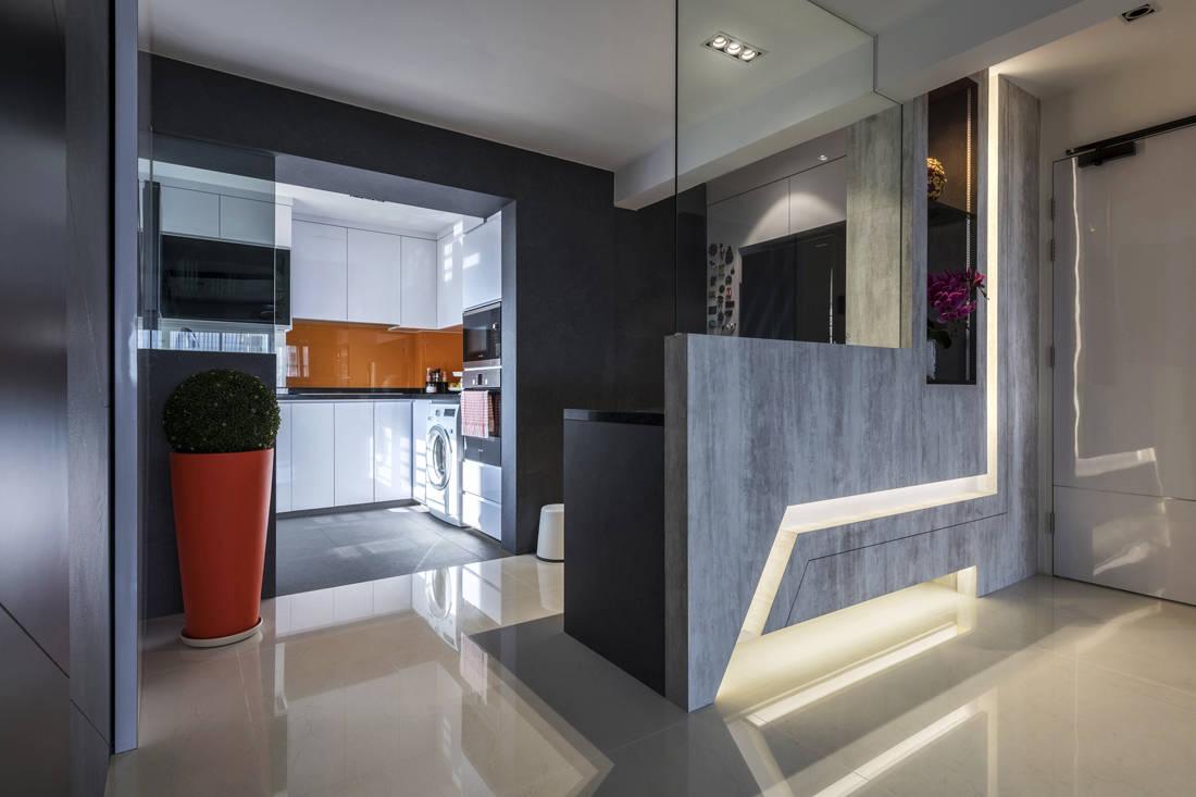 resale flat entrance and kitchen get facelifted by Vivre Creative Design