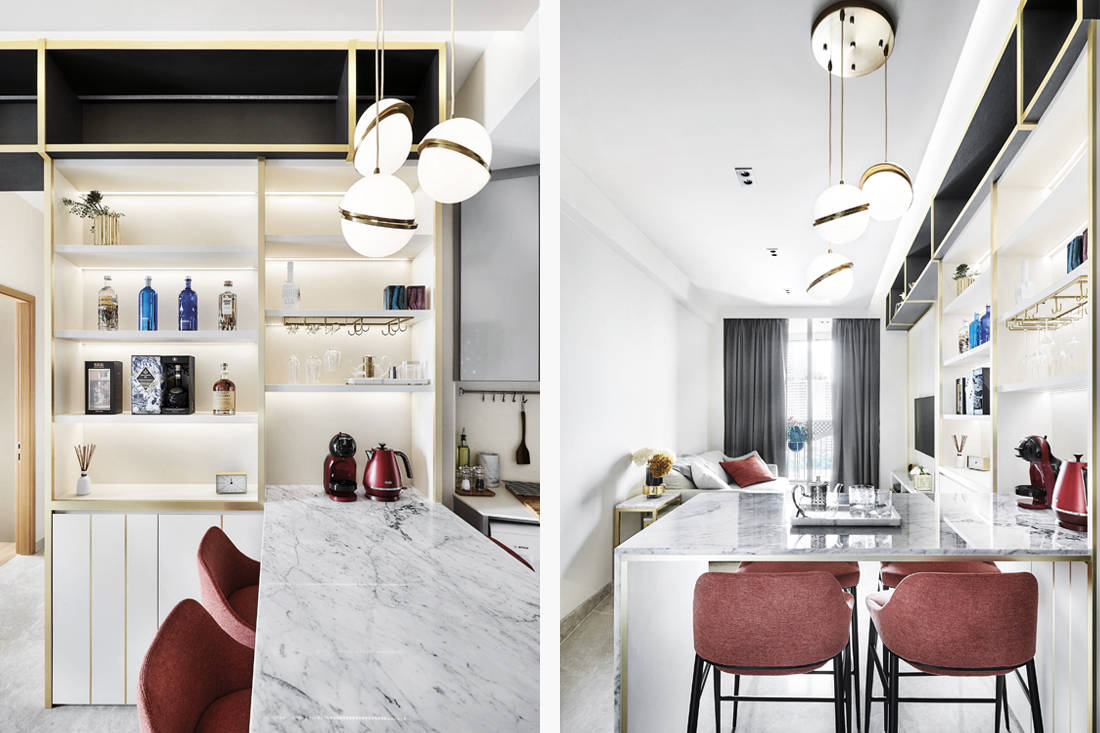 Black N White Haus designs kitchen inspired by European hotels