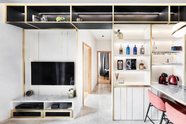 Black N White Haus designs living space inspired by European hotels