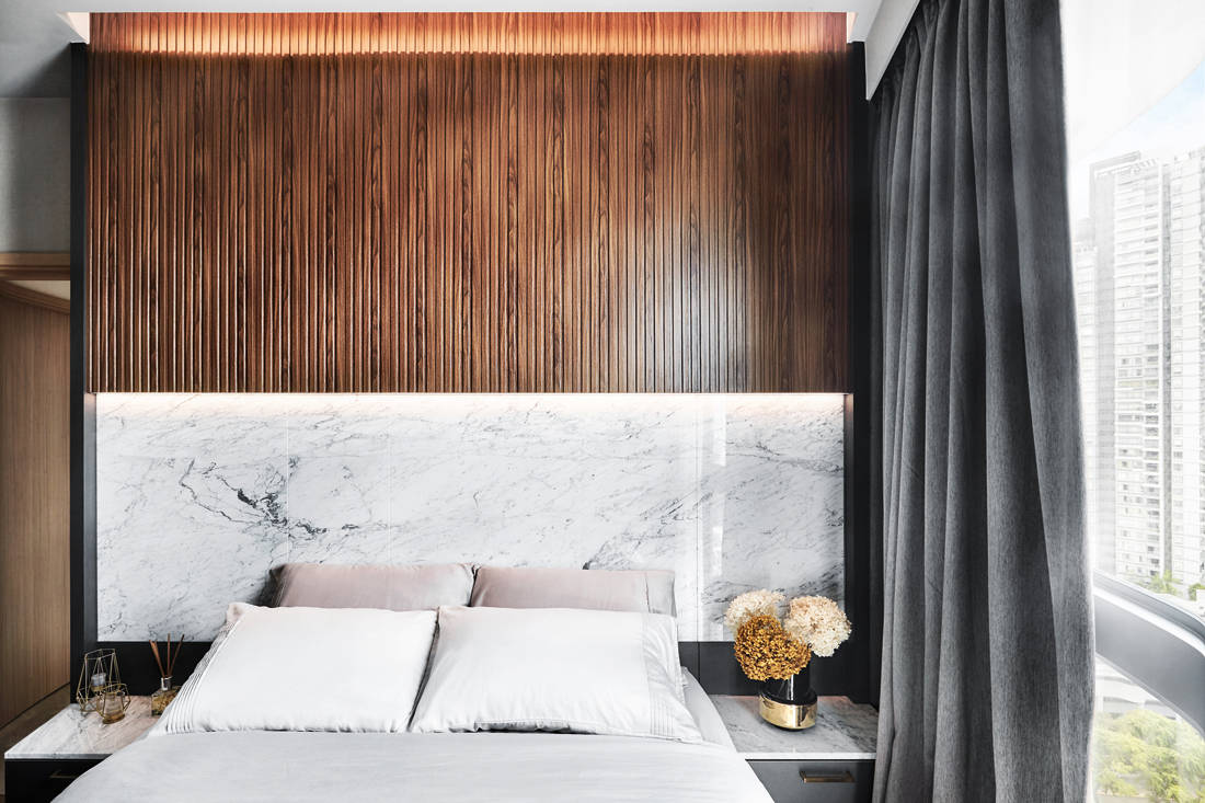 Black N White Haus designs master bedroom inspired by European hotels