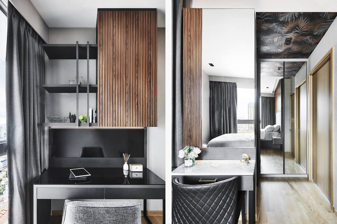 Black N White Haus designs study and dresser inspired by European hotels