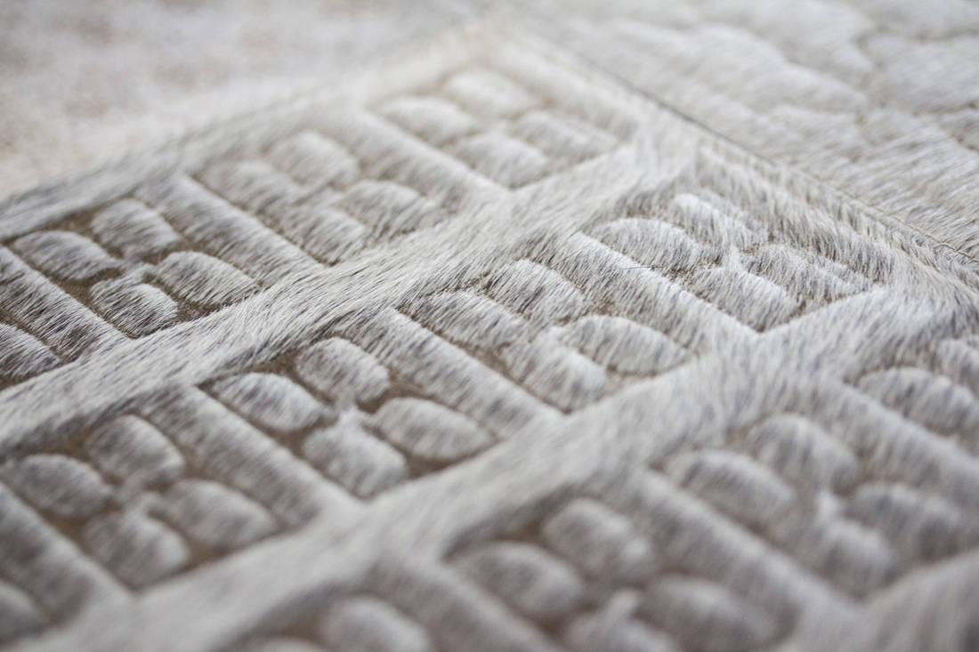 The Cinnamon Room hide rugs detail
