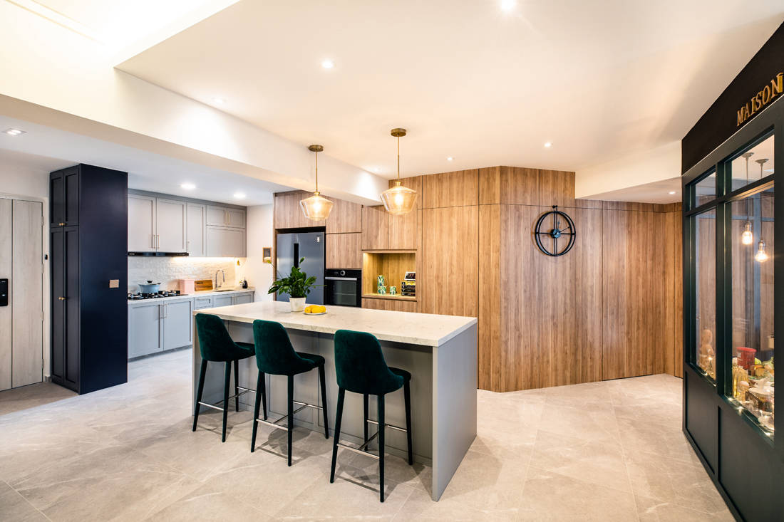 kitchen in HDB flat inspired by London storefronts by M Atelier