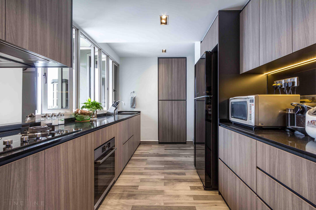 kitchen in family home for six by Fineline Design