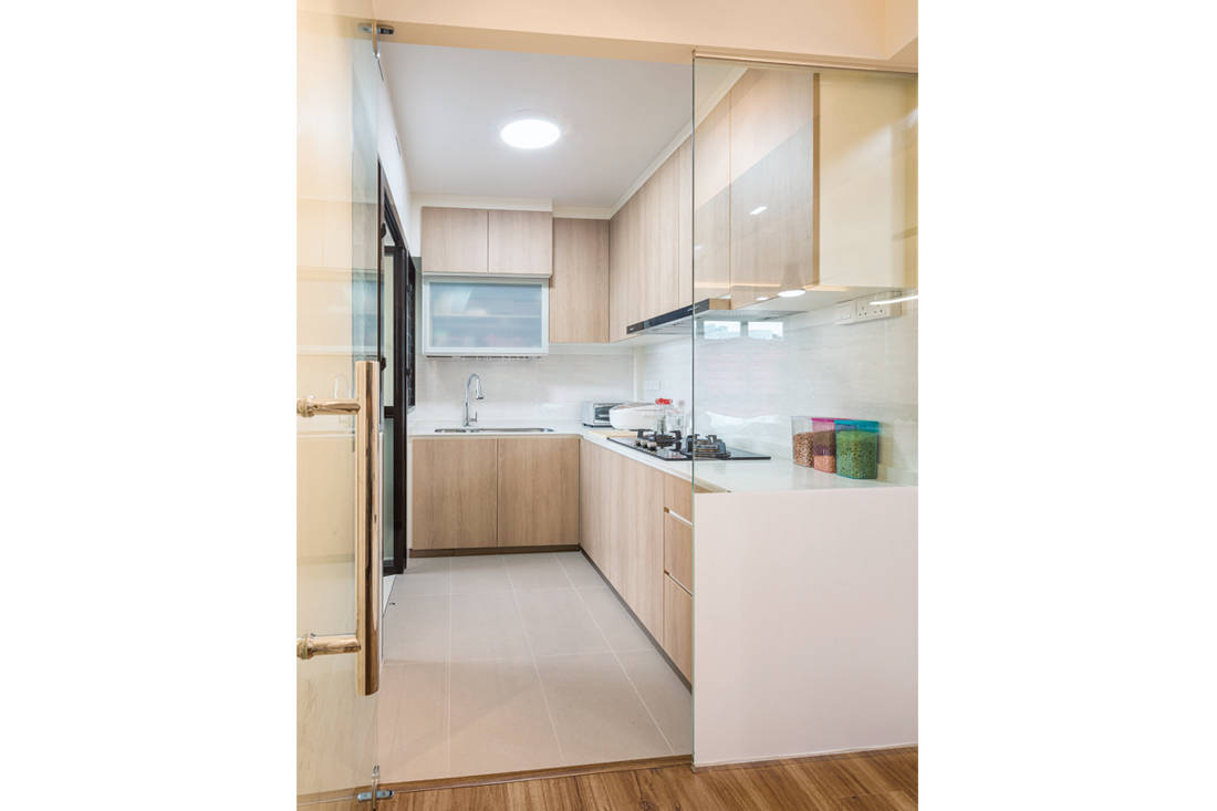 kitchen in small family home by AP Concept