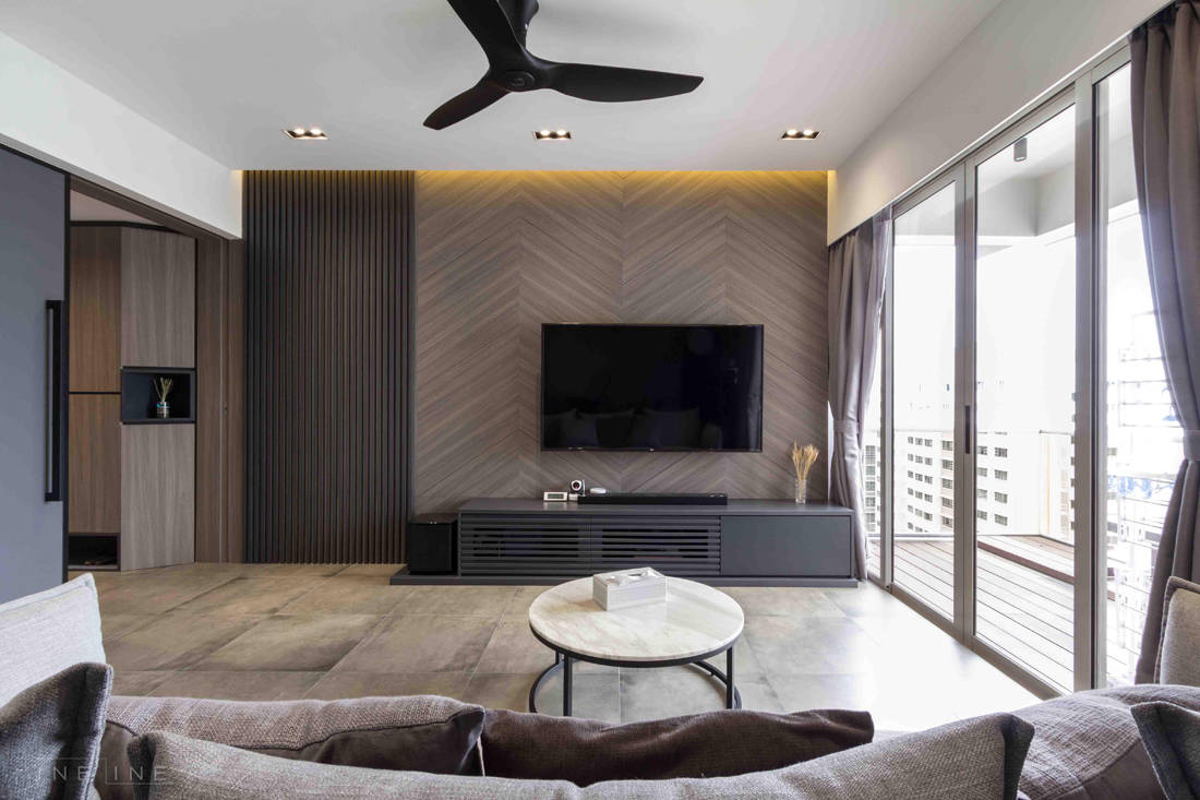 living room in family home for six by Fineline Design