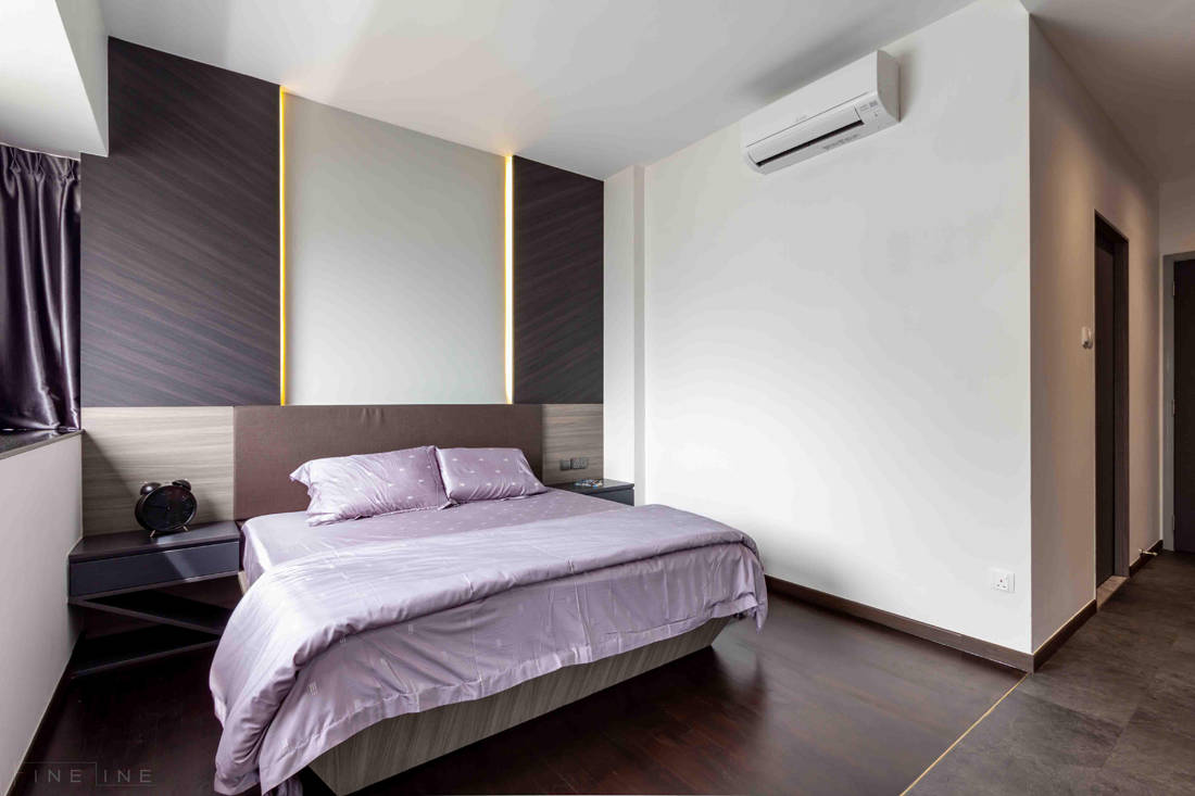 master bedroom in family home for six by Fineline Design