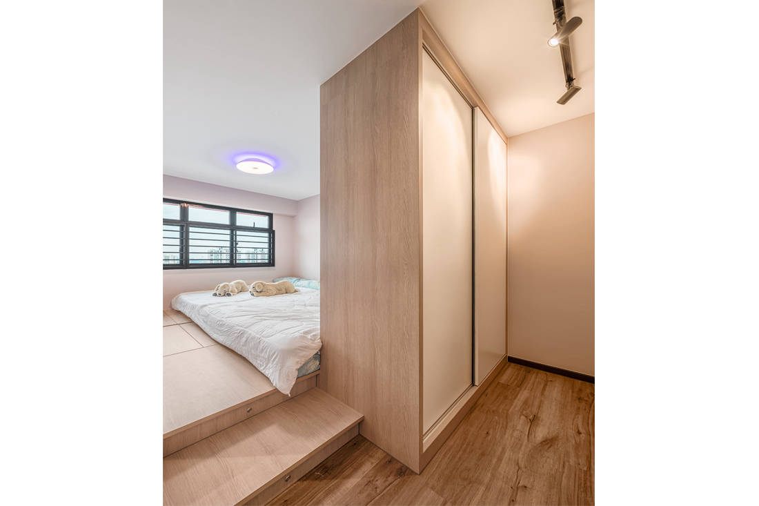 master bedroom in small family home by AP Concept