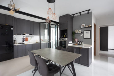 A modern monochrome home with Victorian influences