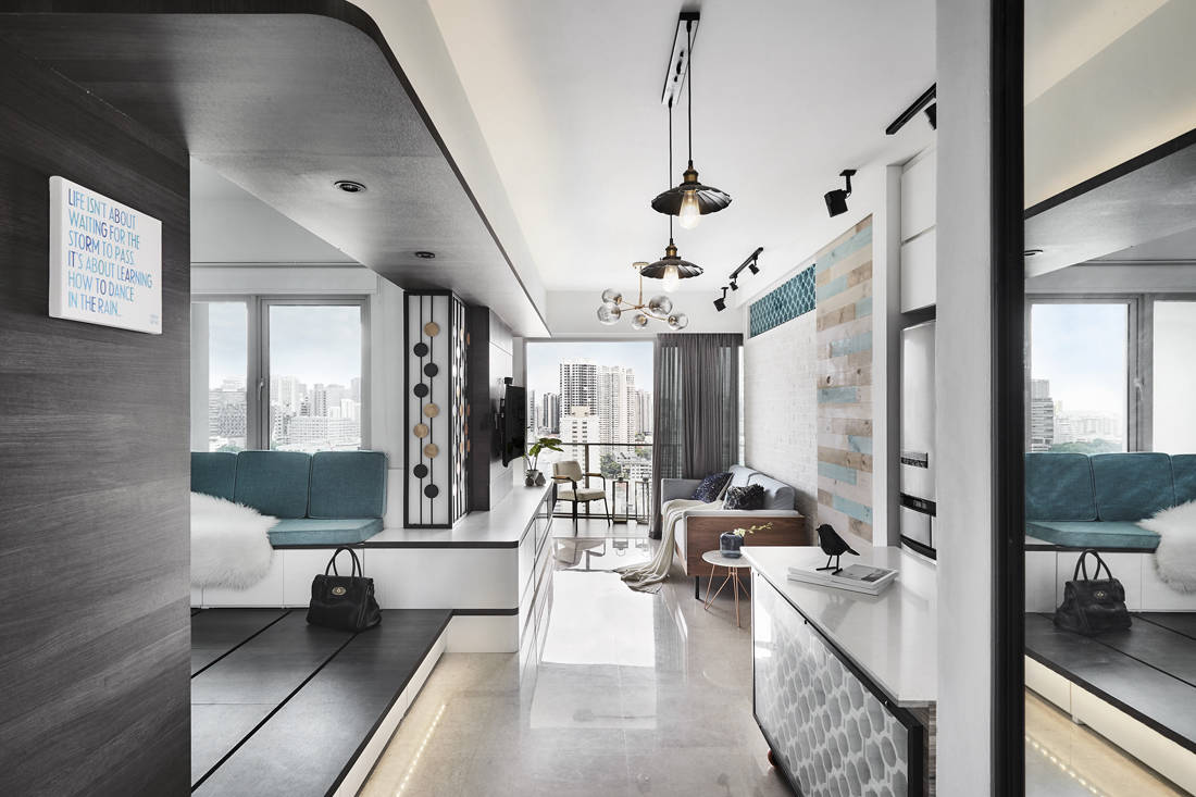Lookbox Living most viewed homes of 2019 - Peranakan industrial apartment by AMP Design Co.
