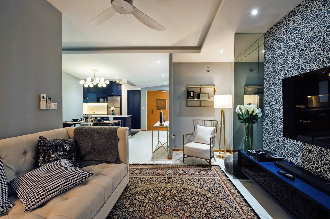 Lookbox Living most viewed homes of 2019 - modern moroccan HDB flat by Fatema Design Studio